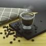 Copo Parede Dupla de Vidro Café 80ml 2 Peças