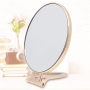 Espelho de Mesa Maquiagem Compacto com Suporte Rose Gold
