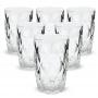 Jogo Copo Diamante Transparente Grande 370ml  6 peças