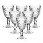 Jogo de Taças Bico de Abacaxi Transparente 300ml 6 peças