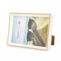 Kit 2 Porta Retrato Frame Branco com Borda Rosegold 10x15