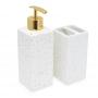 Kit Banheiro Lavabo 2 peças Fosco Porta Sabonete Líquido e Escovas