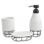 Kit Banheiro Lavabo 3 peças Aramado Estilo Industrial