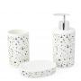 Kit Banheiro Lavabo 3 peças Tipo Granilite Marmorite