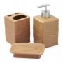 Kit de banheiro lavabo 3 peças terracota marrom