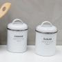 Kit Potes Latas de Café e Açúcar Branco Fosco escandinavo