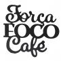Placa Frase Cantinho do Café Preto Fosco Decorativo MDF