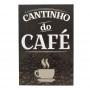 Quadro De Madeira Decorativo Frases Café 20X30cm