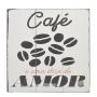 Quadro De Madeira Decorativo Frases Café 24X24Cm