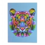 Quadro Decorativo Animais coloridos 40x30 low poly em MDF