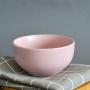 Tigela Bowl Rosa Fosco de Cerâmica 600ml 2 peças