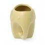 Vasinho cachepot de Cerâmica Elefante marrom claro