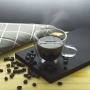 Xícara parede dupla de vidro café 120ml 2 Peças