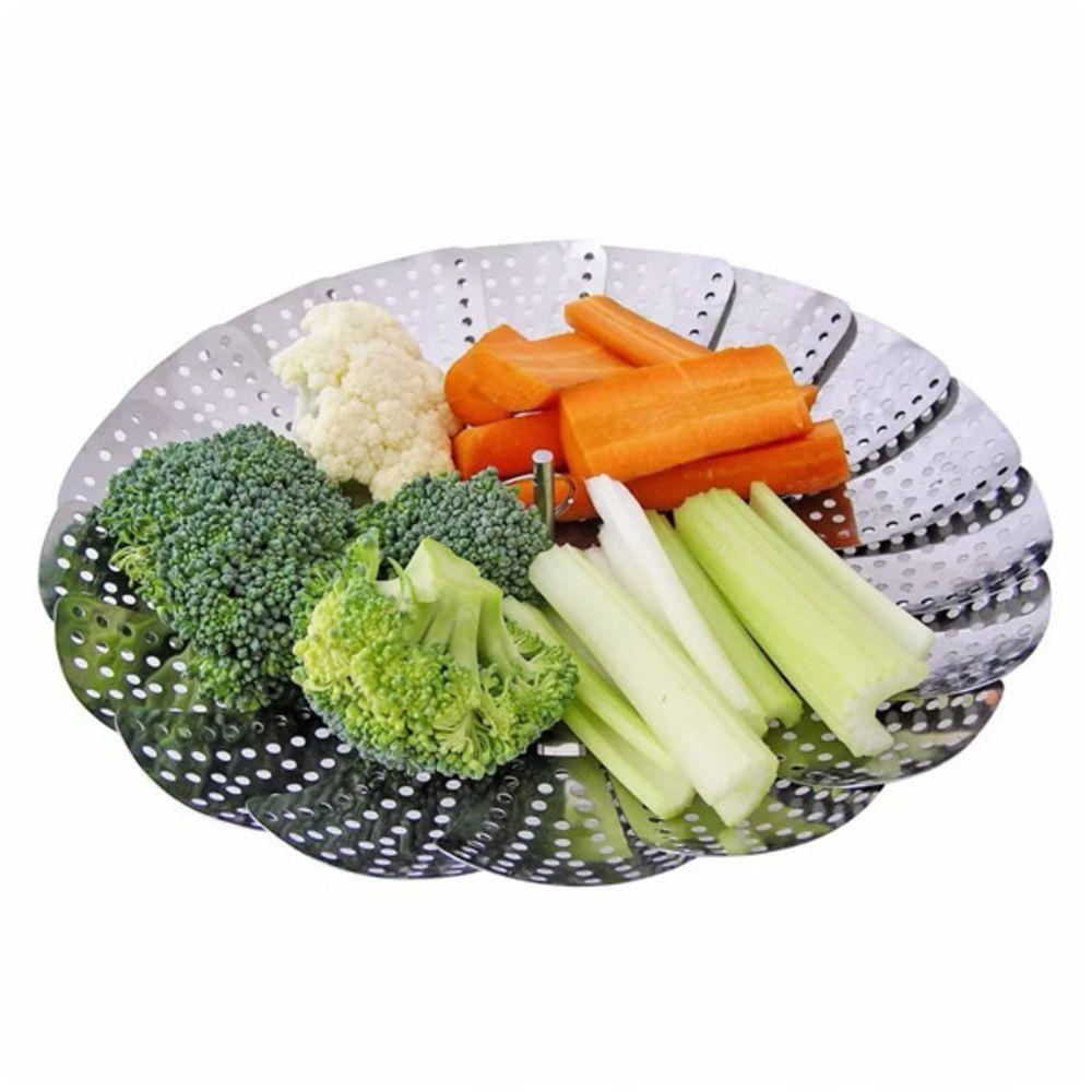 Cesto Cozimento Inox a Vapor para Legumes Vida Saudável