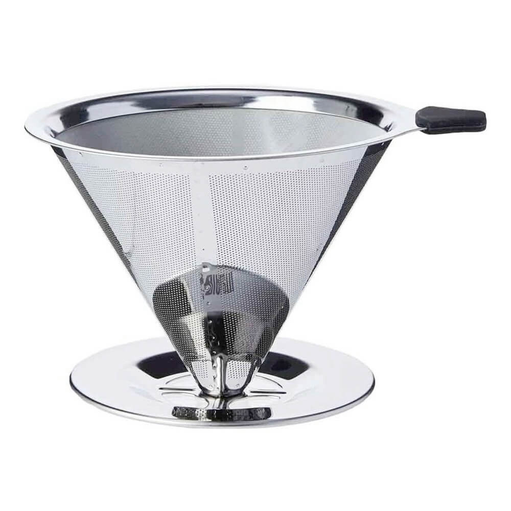 Coador Médio Filtro De Café Pour Over Aço Inox Sem Uso Papel