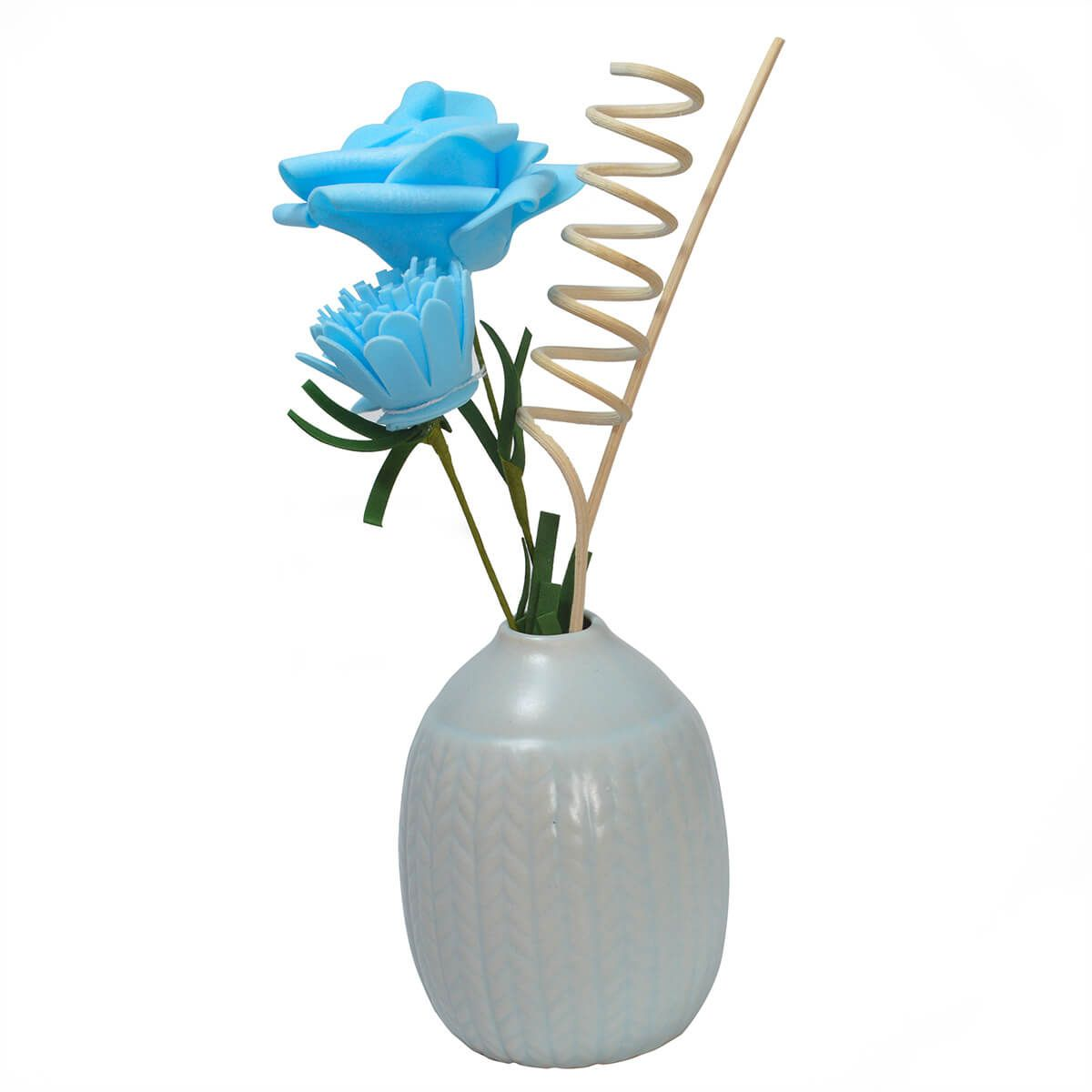 Difusor Aromatizador de Ambientes Vaso Bola Azul
