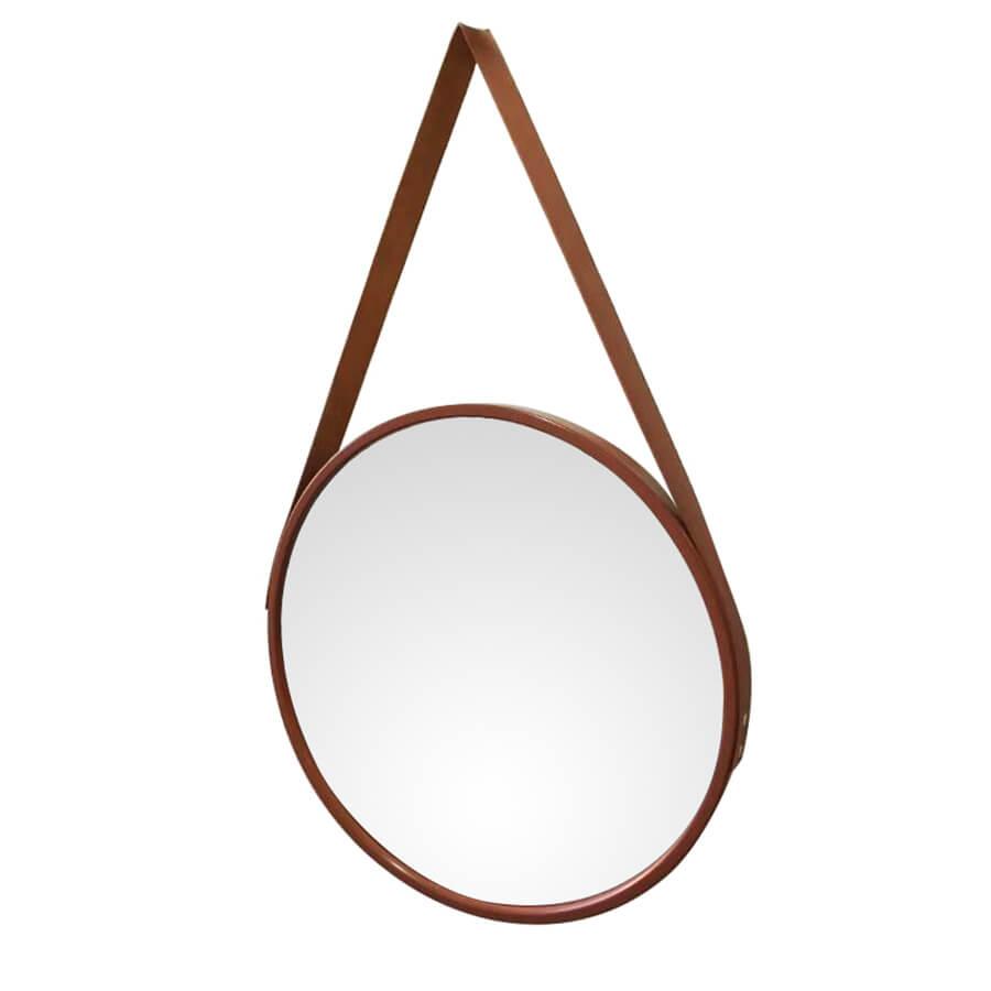 Espelho Redondo com Alça Adnet Escandinavo 45CM