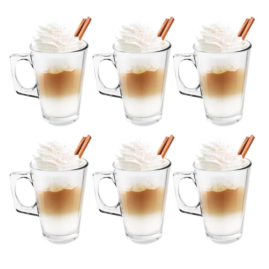 Jogo com 6 Xícaras 250ml Compativel Dolce Gusto Cappuccino