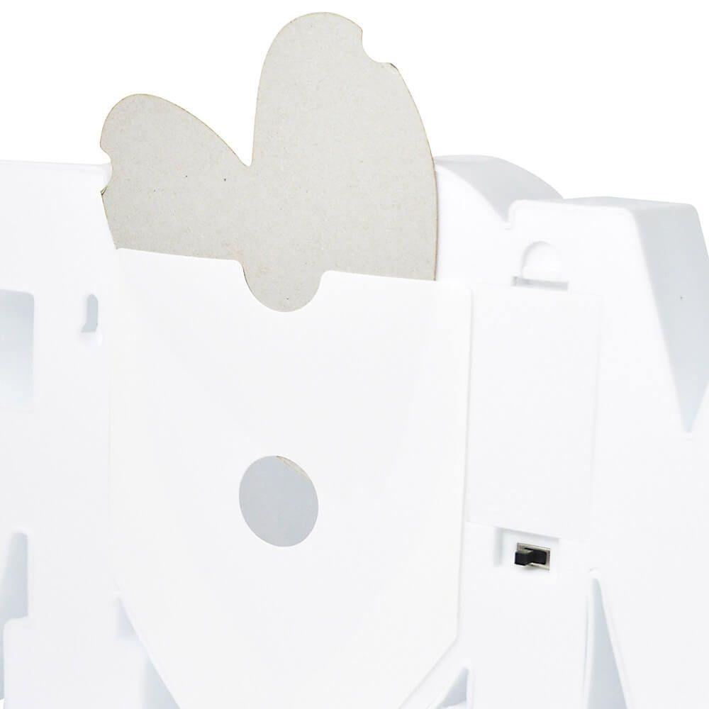 Luminária Porta Retrato LED Amor Branco
