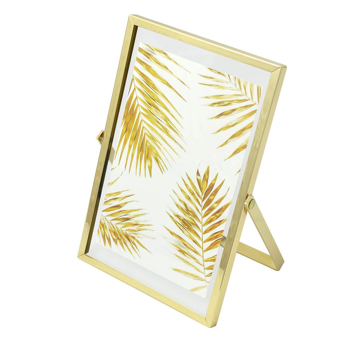 Porta Retrato 10x15 Metal Cavalete Rosegold ou Dourado