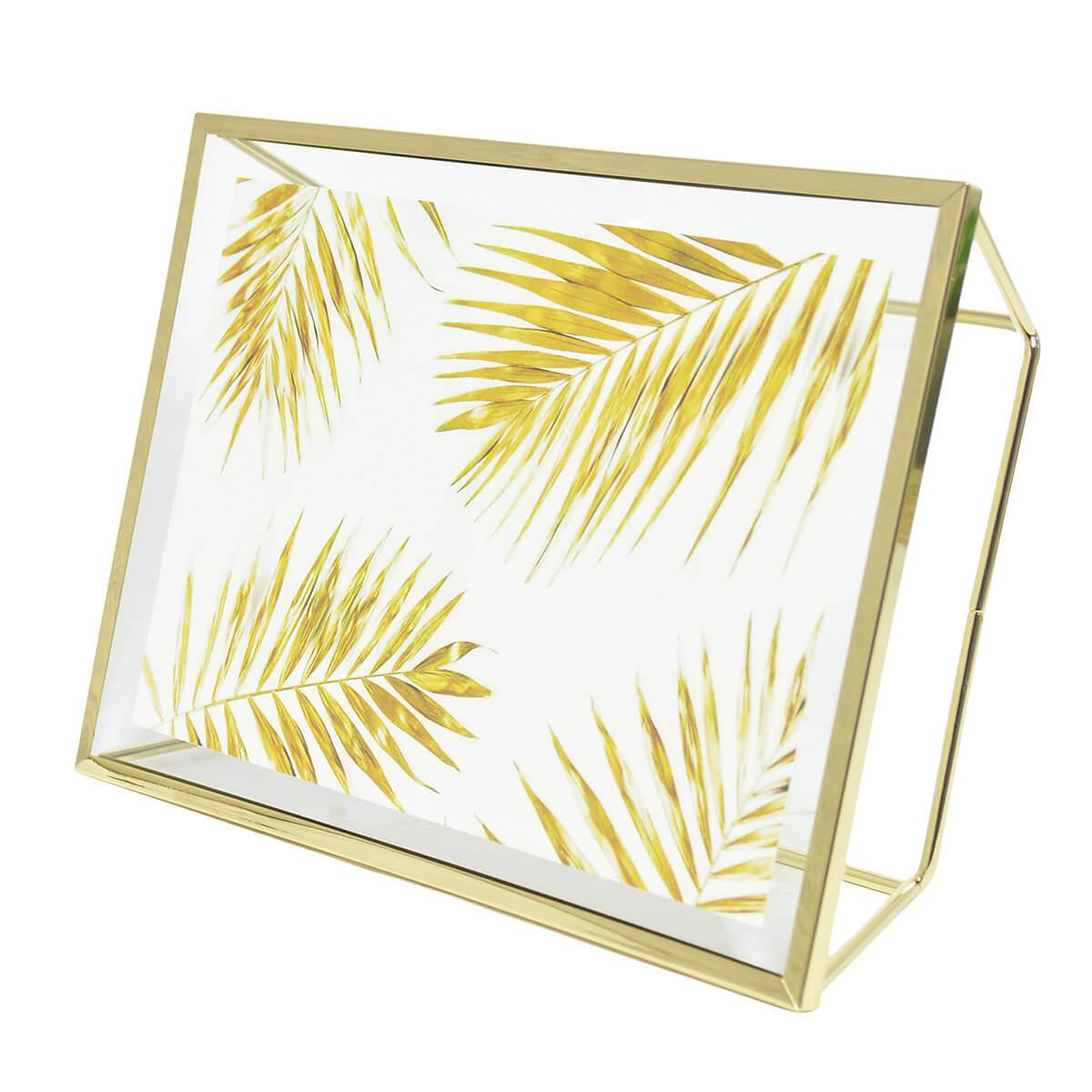 Porta Retrato Elegante Metal Rosegold ou Dourado 15x20