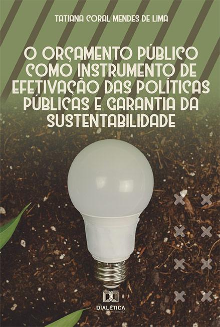 O orçamento público como instrumento de efetivação das políticas públicas e garantia da sustentabilidade