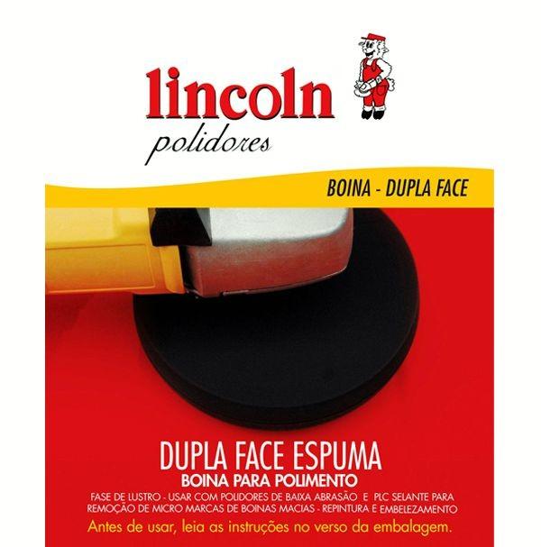 """BOINA DUPLA FACE ESPUMA PRETA LUSTRO 8"""" - LINCOLN"""