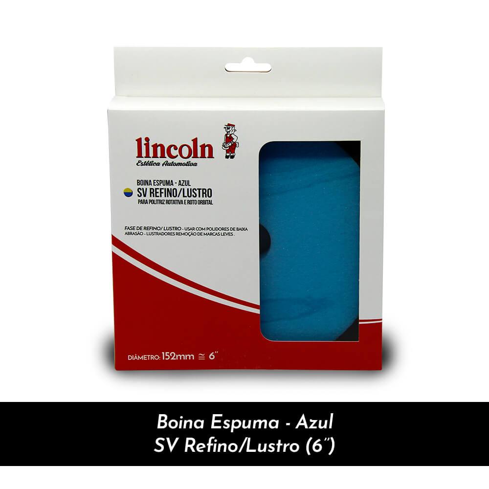 "BOINA ESPUMA - AZUL DUPLA FACE REFINO/LUSTRO 6"" - LINCOLN"