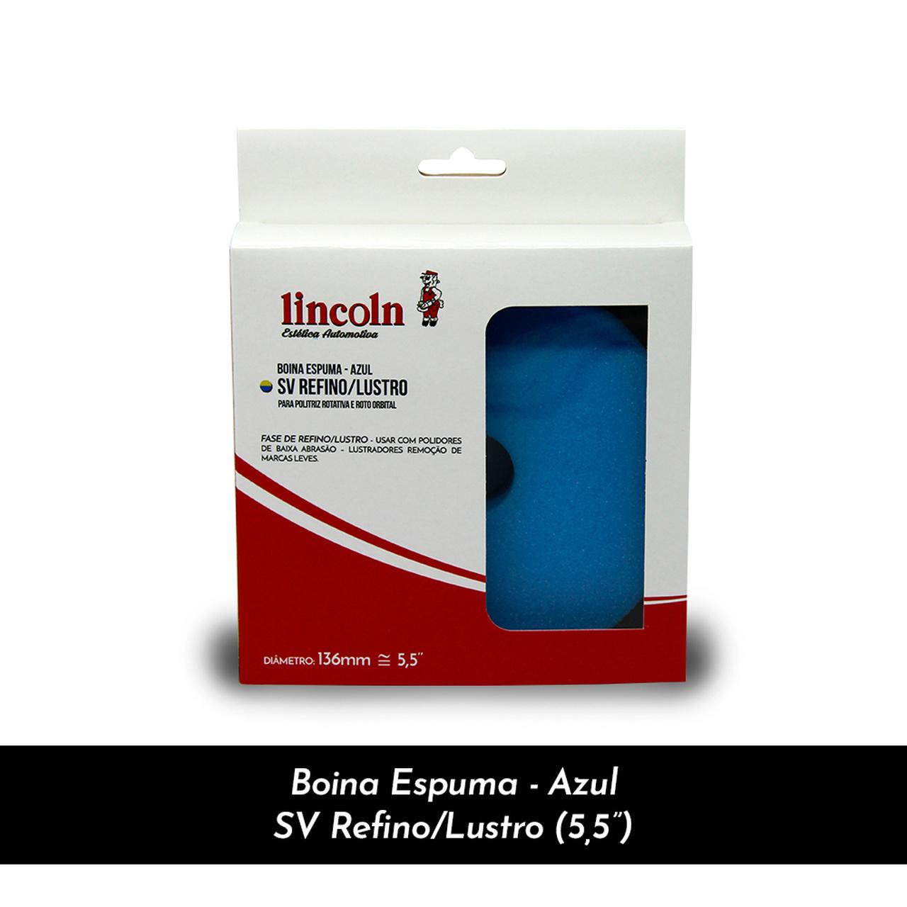"""BOINA ESPUMA - AZUL SV REFINO/LUSTRO 5,5"""" - LINCOLN"""