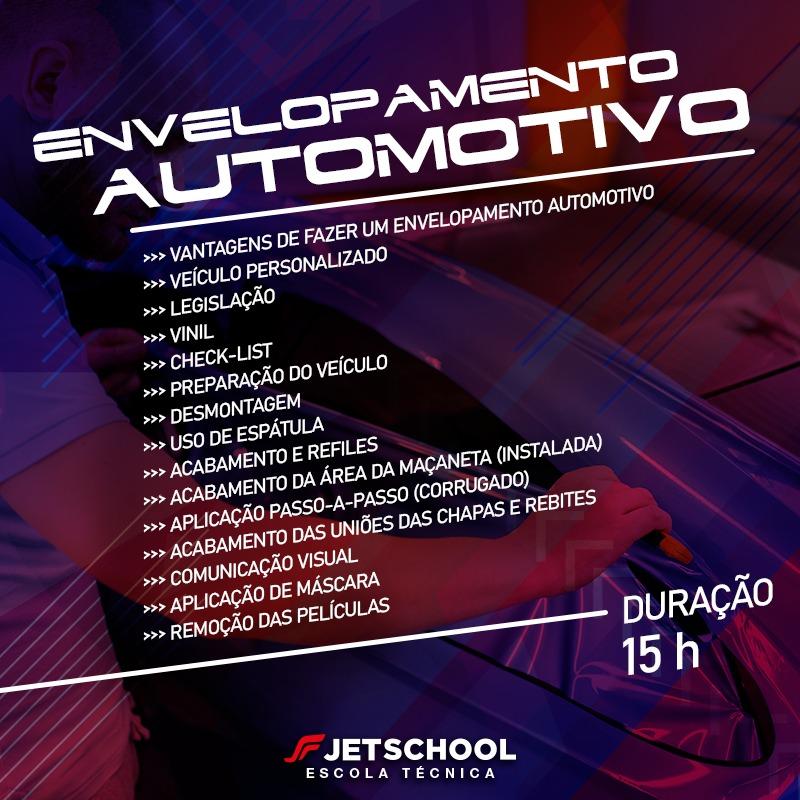 CURSO DE ENVELOPAMENTO AUTOMOTIVO - 15 HORAS