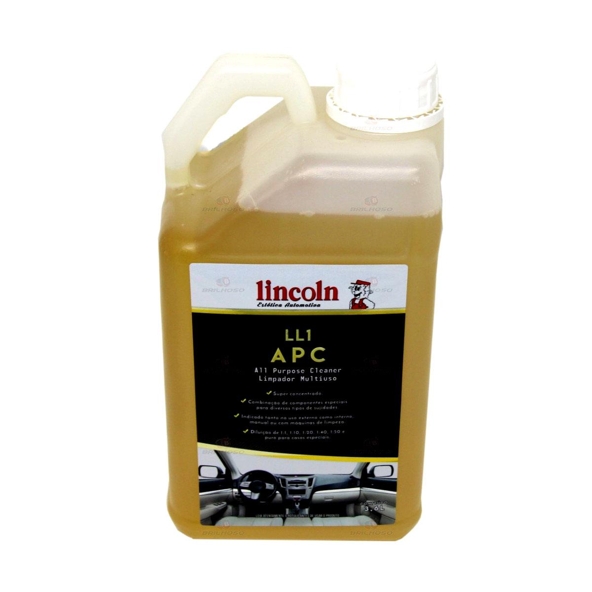LIMPADOR MULTIUSO CONCENTRADO 3.6 - L LL1 APC - LINCOLN