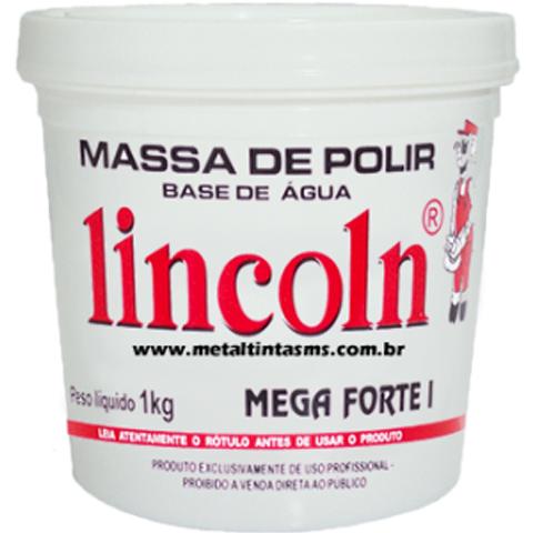 MASSA DE POLIR MEGA FORTE I 1 KG ( BASE D' ÁGUA ) - LINCOLN
