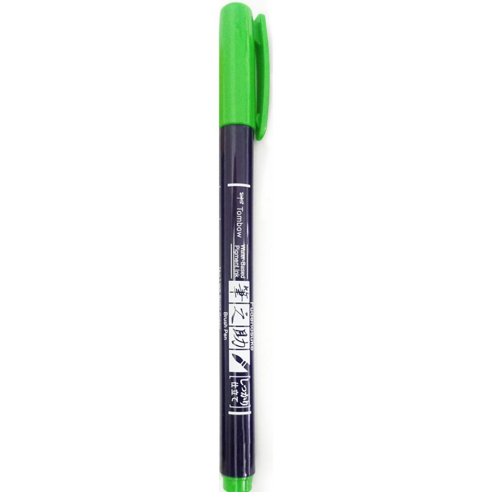 Caneta pincel Fudenosuke hard - cor verde - TOMBOW