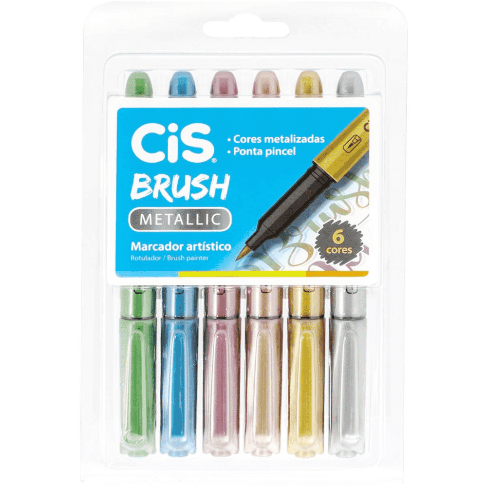 CiS Brush Metalic kit de 6 cores