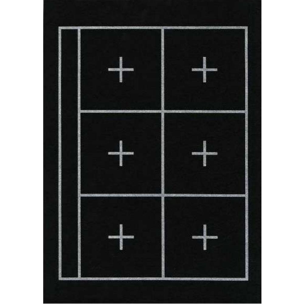 Feltro preto com marcação para shodô - Kuretake