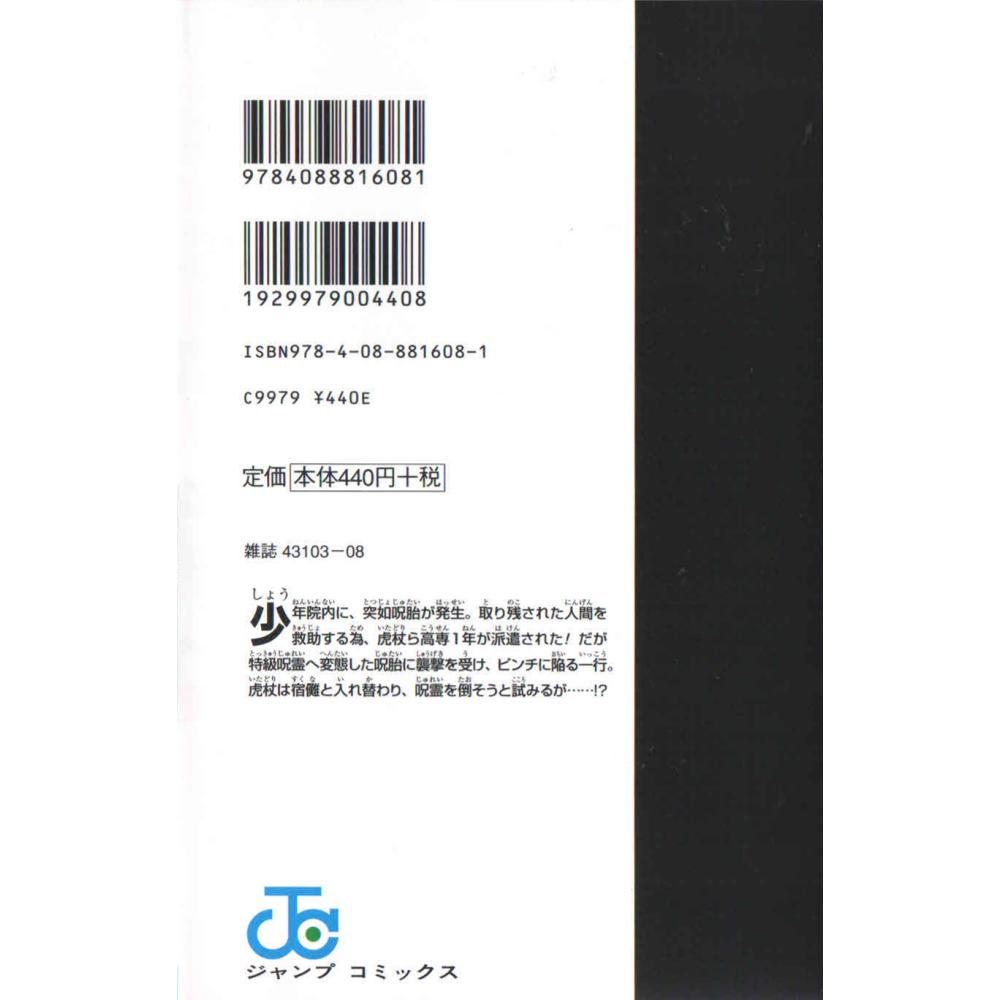 Jujustu kaisen vol.2 - Escrito em japonês