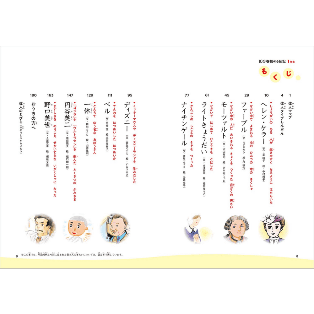 Leitura em 10 minutos - Biografia para 1 série (10 pun de yomeru Denki 1 nensei)