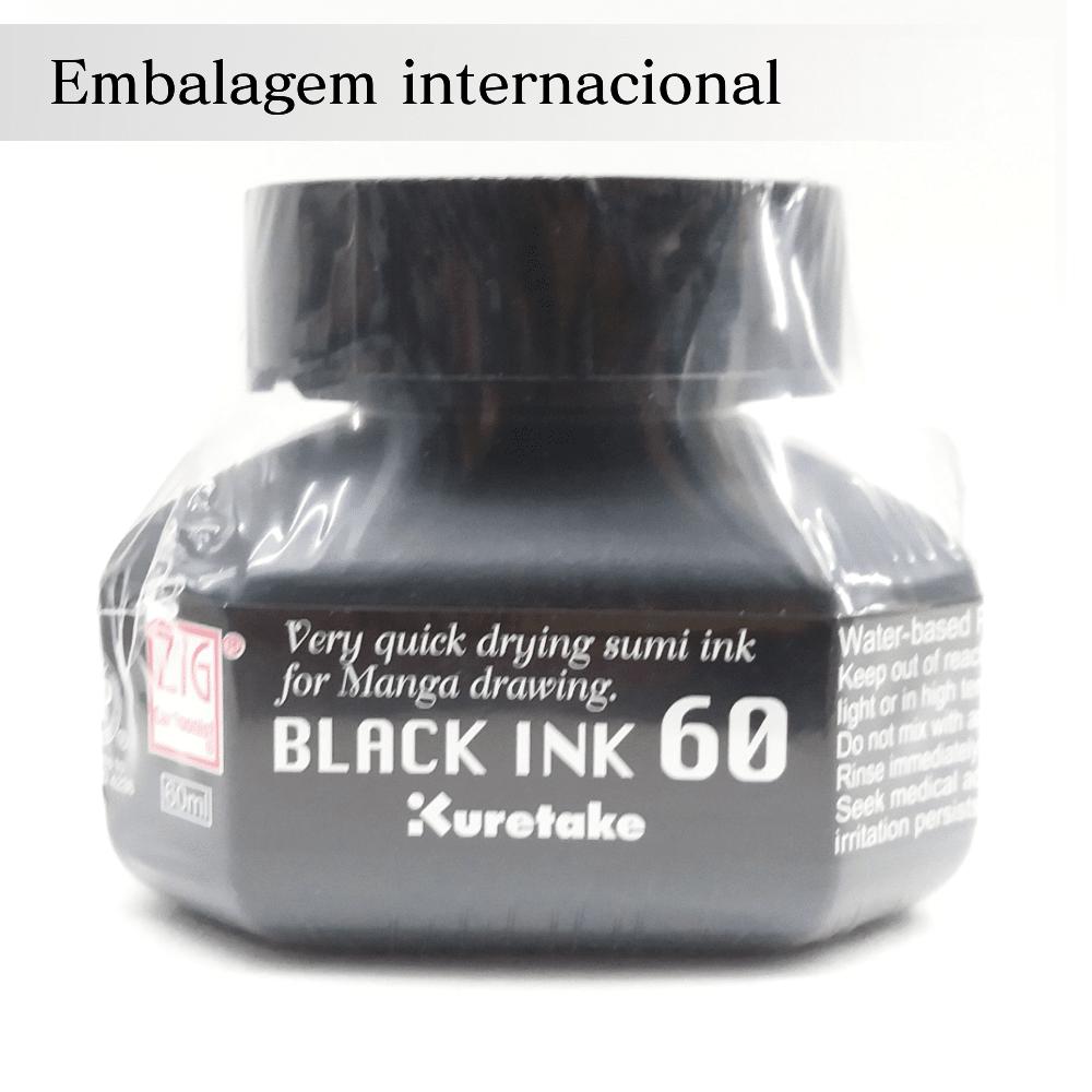 Tinta sumi - Black ink 60 - nankin Kuretake