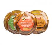 3 Sachês mel com própolis 65g