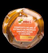 Sachê Composto de mel e extrato de própolis sabor romã e gengibre - 65g
