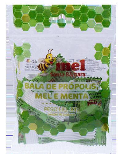 Bala de própolis mel e menta - 37g