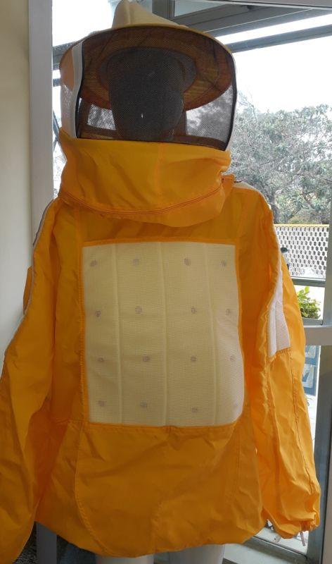 Jaqueta de nylon c/ refrigeração amarelo