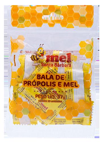 Kit Bala de gengibre mel e própolis - 10 Unidades de 37g
