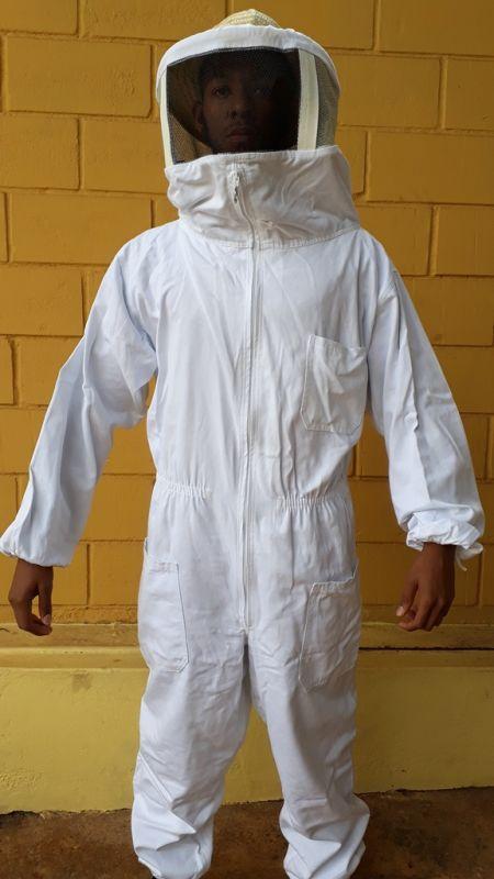 Macacão apícola visor nylon Brim Branco