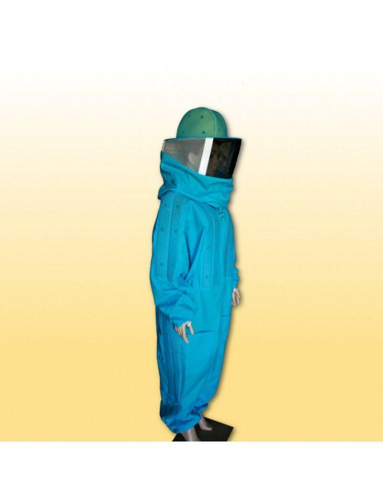 Macacão c/ refrigeração nylon azul