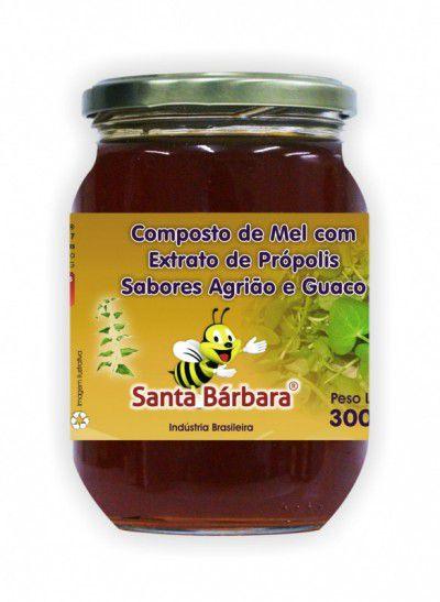 Mel com Extrato de Própolis sabor agrião e guaco - 300g