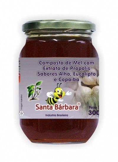 Mel com Extrato de Própolis sabor alho, eucalipto e copaíba - 300g