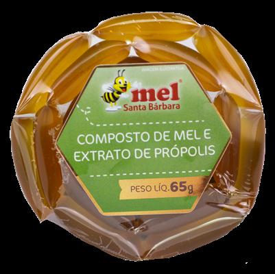 Sachê  Composto de mel e extrato de própolis - 65g