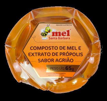 Sachê Composto de  mel e extrato de própolis sabor agrião - 65g