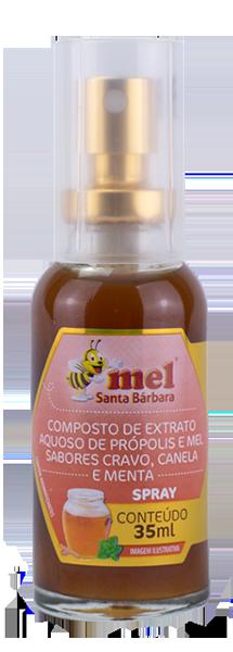 Spray de mel com própolis sabor cravo, canela e menta - 35 ml